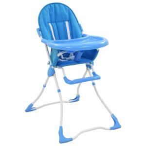 Baby-Hochstuhl Blau und Weiß