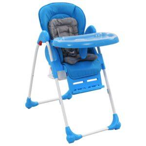 Baby-Hochstuhl Blau und Grau