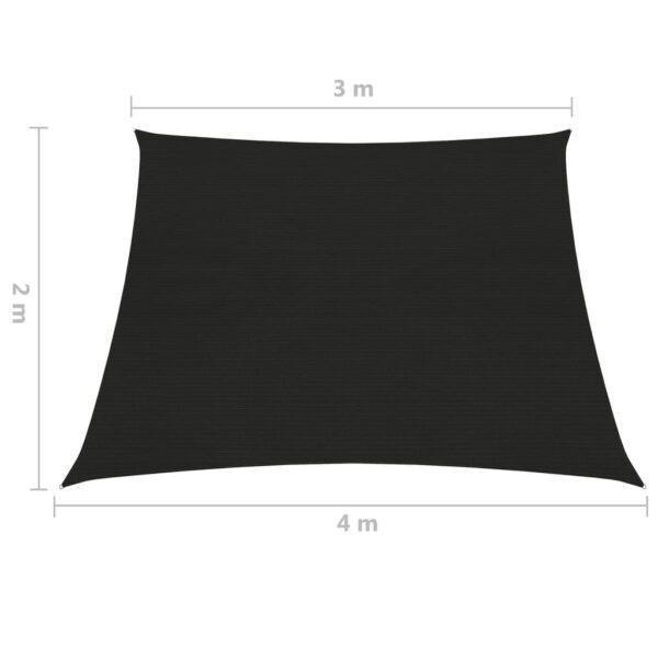 Sonnensegel 160 g/m² Blau 3/4×2 m HDPE