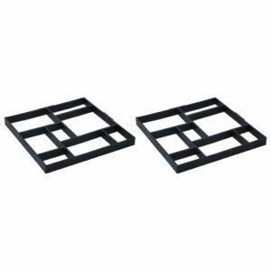 Pflasterformen 2 Stk. 50,4 x 50,4 x 4,3 cm Kunststoff