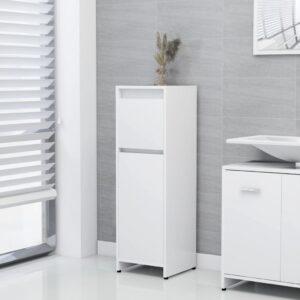 Badezimmerschrank Weiß 30x30x95 cm Spanplatte
