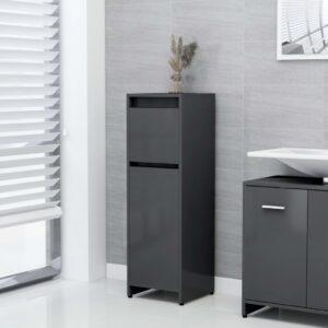 Badezimmerschrank Grau 30x30x95 cm Spanplatte