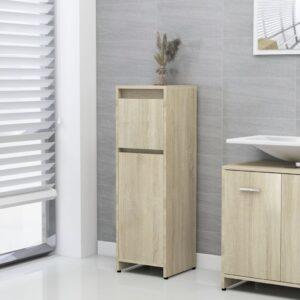 Badezimmerschrank Sonoma-Eiche 30x30x95 cm Spanplatte