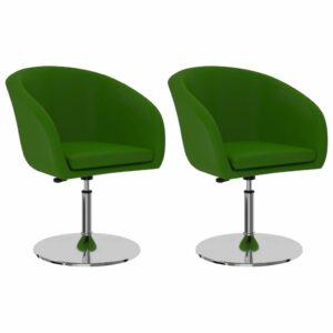 Esszimmerstühle 2 Stk. Grün Kunstleder