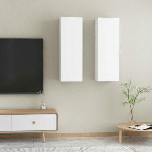 TV-Schränke 2 Stk. Weiß 30,5x30x90 cm Spanplatte