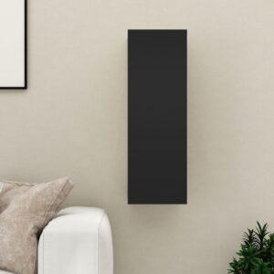 TV-Schrank Schwarz 30,5x30x90 cm Spanplatte