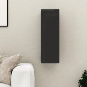TV-Schrank Hochglanz-Schwarz 30,5x30x90 cm Spanplatte