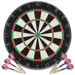 Professionelles Dartboard Sisal mit 6 Darts