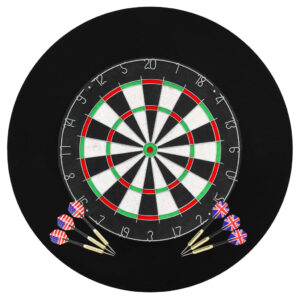 Professionelles Dartboard Sisal mit 6 Darts und Surround