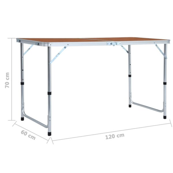 Klappbarer Campingtisch Aluminium 120 x 60 cm