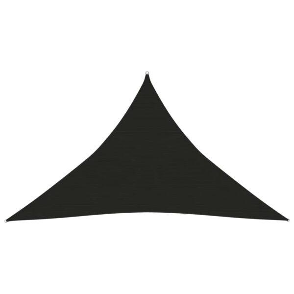 Sonnensegel 160 g/m² Schwarz 5x5x6 m HDPE