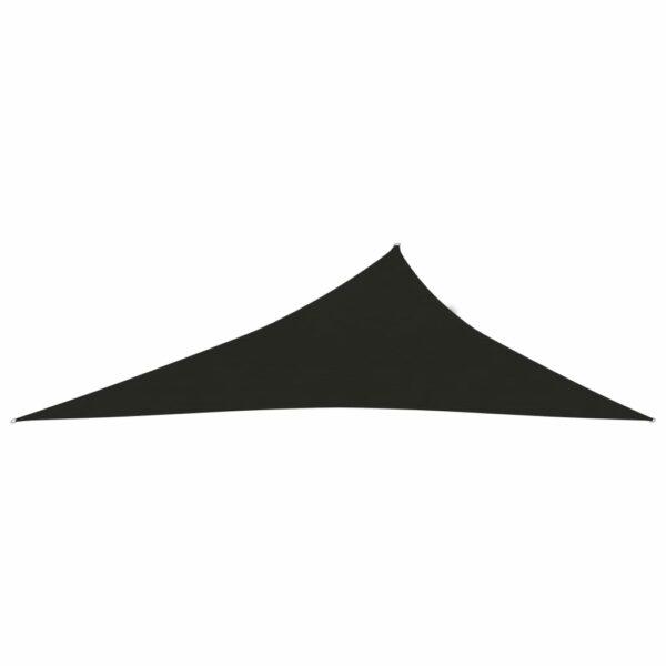 Sonnensegel 160 g/m² Schwarz 4x5x6,8 m HDPE