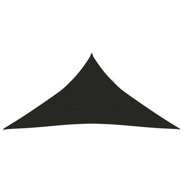 Sonnensegel 160 g/m² Schwarz 6x6x6 m HDPE