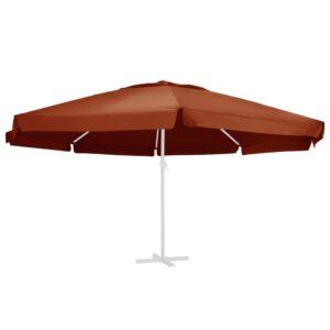 Ersatzbezug für Sonnenschirm Terracotta-Rot 600 cm