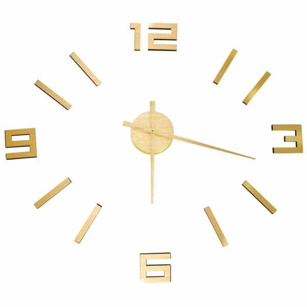 3D-Wanduhr Modernes Design Golden 100 cm XXL