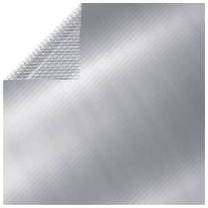 Treibende Rechteckige Pool-Solarplane PE 10×5 m Silbern