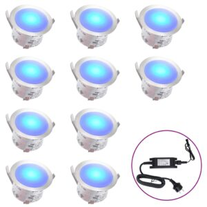LED-Bodenleuchten 10 Stk. Blau