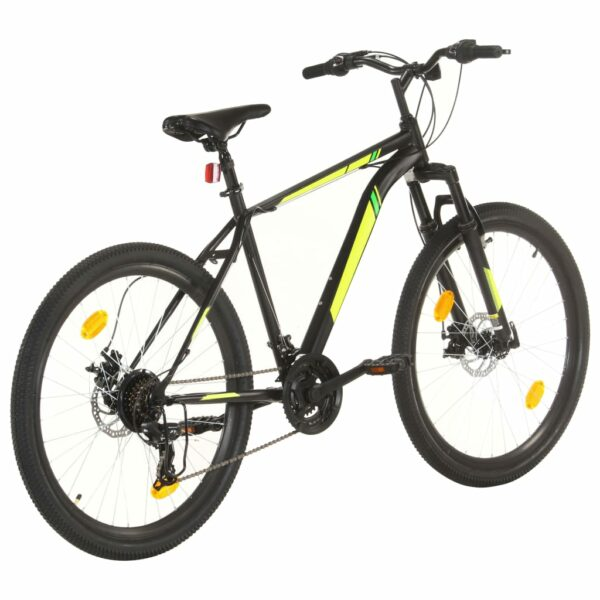 Mountainbike 21 Gang 27,5 Zoll Rad 42 cm Schwarz